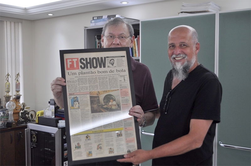 Nelson Nunes e Milton Neves voltaram a se encontrar nesta semana. Foto: Thiago Tufano Silva/Portal TT