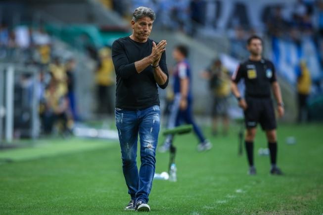 Equipe gaúcha enfrenta a Universidad Católica. Foto: Lucas Uebel/Grêmio