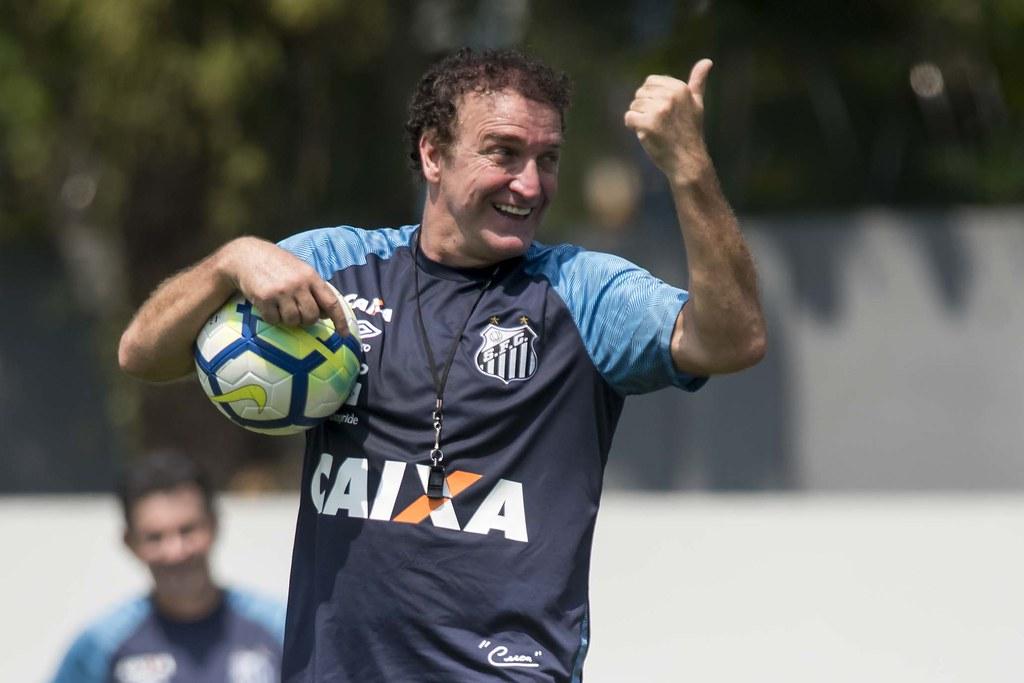 Cuca, treinador do Peixe. Foto: Ivan Storti/Santos FC