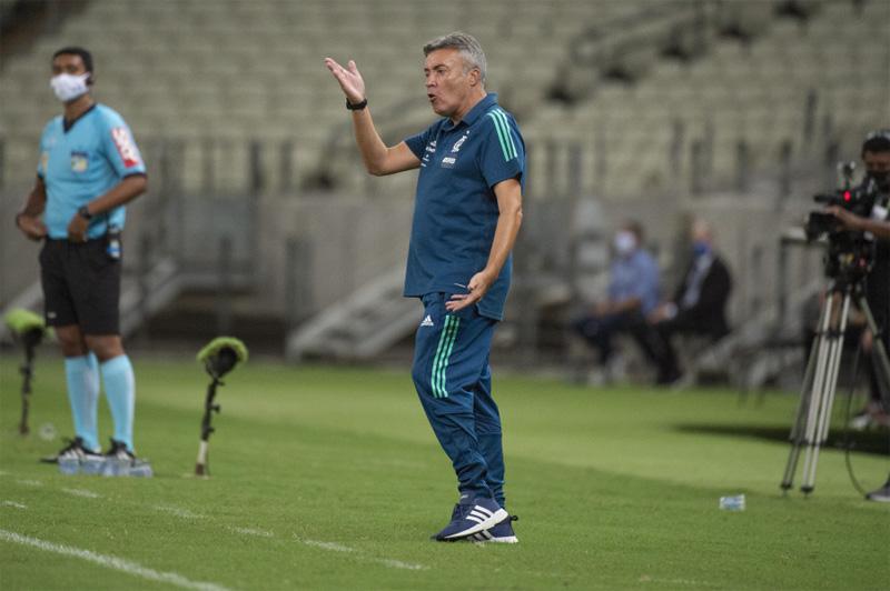 Domenèc terá apenas um desfalque para o confronto na Libertadores. Foto; Alexandre Vidal/Flamengo