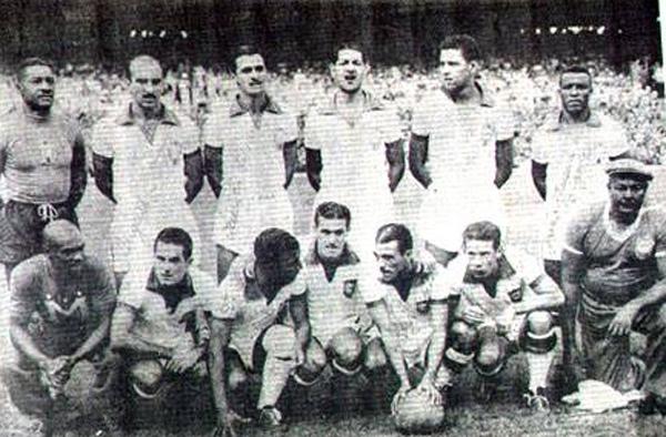 Equipe brasileira que foi ao gramado do Maracanã para enfrentar o Uruguai. Foto: Reprodução