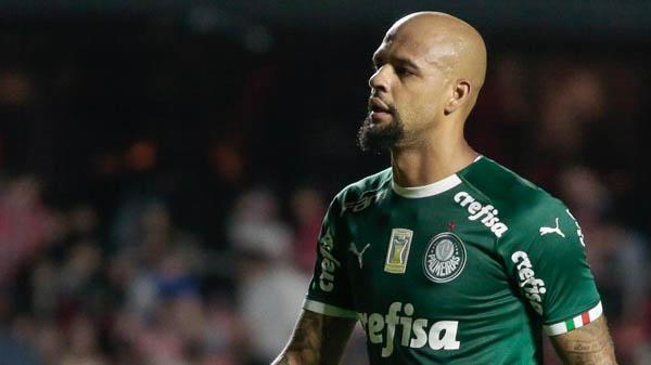 Felipe Melo, do Palmeiras, enfrenta o São Paulo no Morumbi.Foto: Marcello Zambrana/AGIF/Via UOL