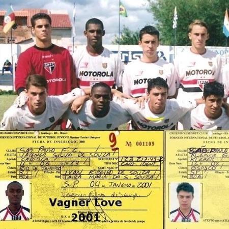 Vagner Love passou pelas categorias de base do São Paulo entre 2000 e 2001