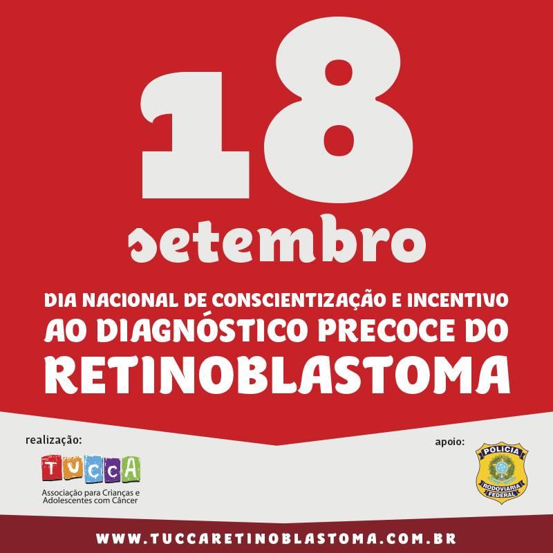 Staff entrará com uma faixa apoiando o Dia Nacional de Conscientização e Incentivo ao Diagnóstico Precoce do Retinoblastoma