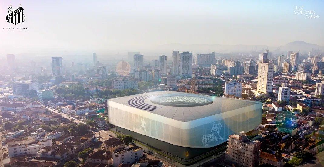 Novo estádio santista teria capacidade para 25 mil pessoas. Foto: Divulgação