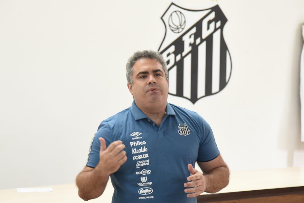 Orlando Rollo deve presidir o Santos até o final de 2020. Foto: Ivan Stori/Santos FC