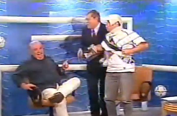 Em 2002, comentaristas debateram o título corintiano na Copa do Brasil. Foto: Reprodução