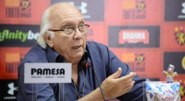 Mandatário rubro-negro falou sobre caso do jogador Dentinho. Foto: Anderson Stevens/Sport