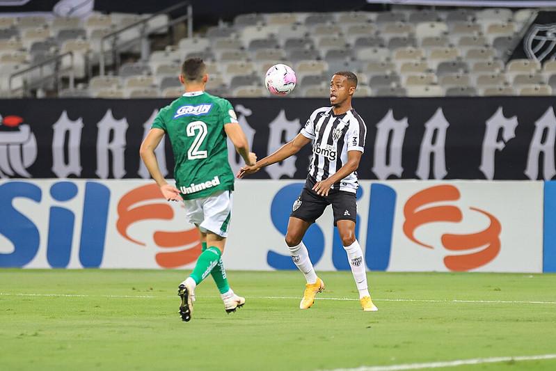 Ao bater o Goiás, Atlético alcançou a décima vitória em 15 rodadas do campeonato. Foto: Pedro Souza / Agência Galo / Atlético