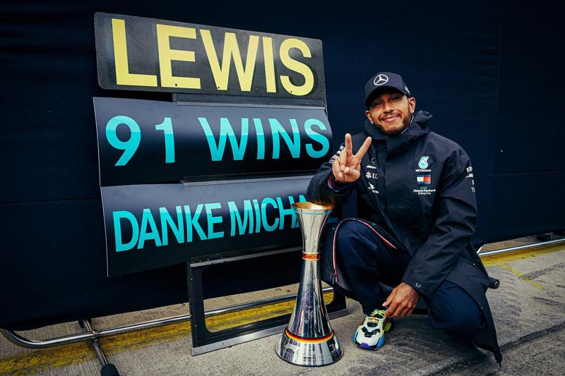 Triunfo histórico aconteceu na Alemanha, no GP de Eifel. Foto: Mercedes-AMG F1
