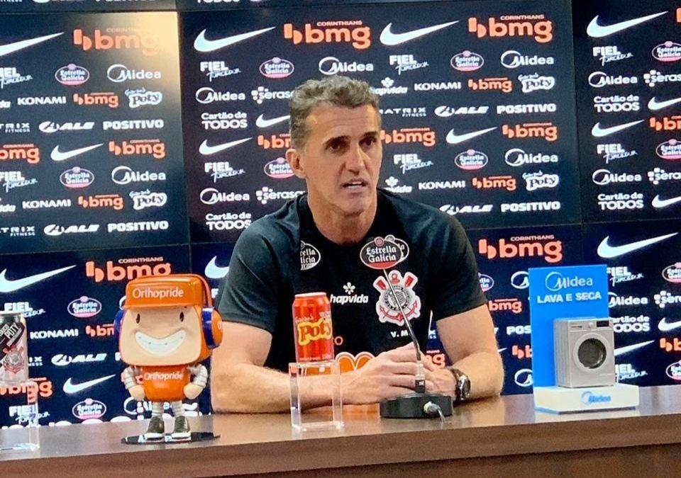 Novo treinador do Timão prometeu time aguerrido para se afastar do Z4. Foto: Twitter/Corinthians