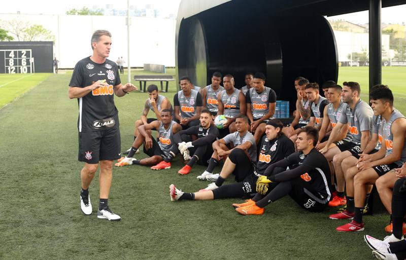 Novo treinador do Timão inicia seu trabalho. Foto: Rodrigo Coca/Agência Corinthians