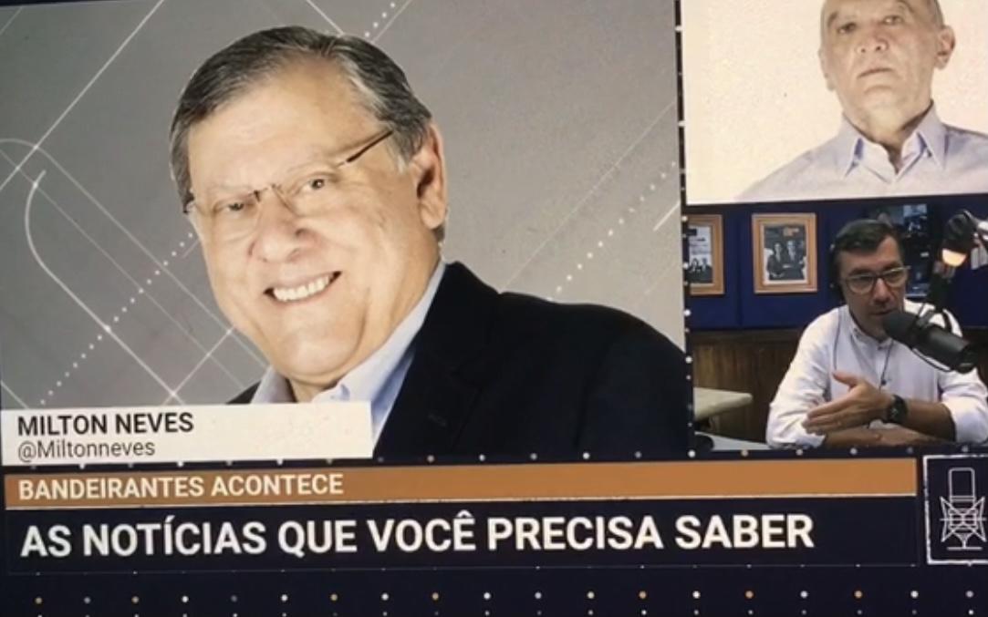 Num programa da Band News FM, Milton Neves esclarece mal entendido
