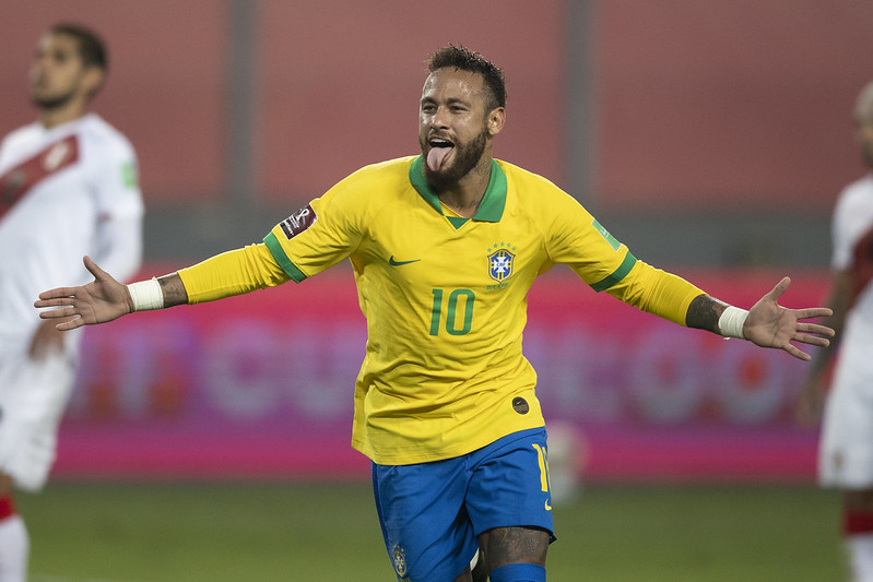 Neymar foi criticado por Zambrano por conta de sua postura em campo. Foto: Lucas Figueiredo/CBF