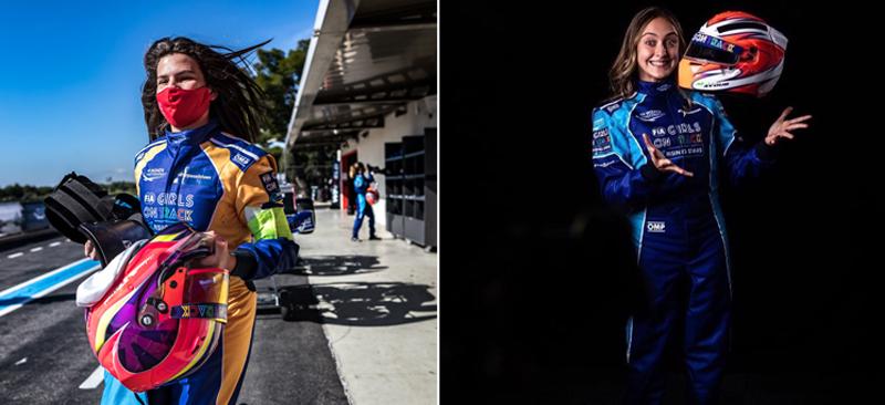 Desafio das brasileiras agora será com o carro da F4. Fotos: RF1 e Morgan Mathurin/Divulgação