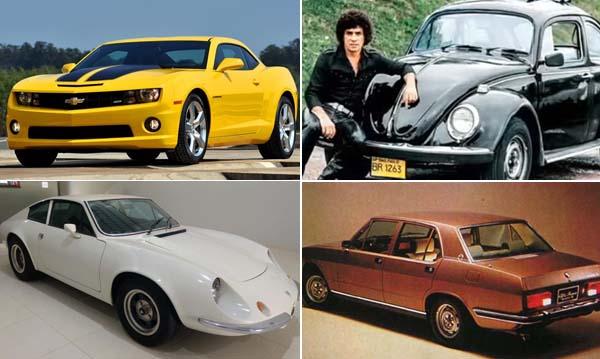 Alguns automóveis ficaram ainda mais famosos pelos sucessos das canções. Fotos: Divulgação