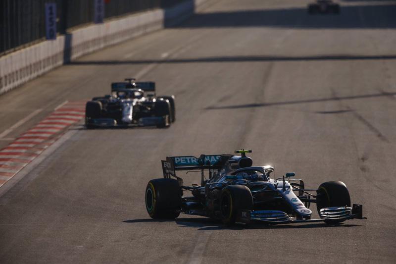 Finlandês foi perfeito no traçado urbano de Baku. Foto: Mercedes-AMG F1