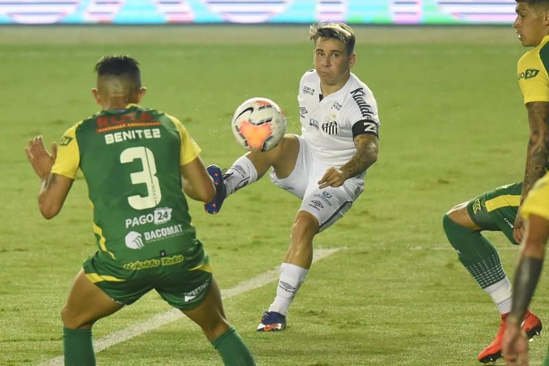 Santos tem divida de 7 milhões de dólares com a Huachipato por Soteldo. Foto: Ivan Storti/Santos