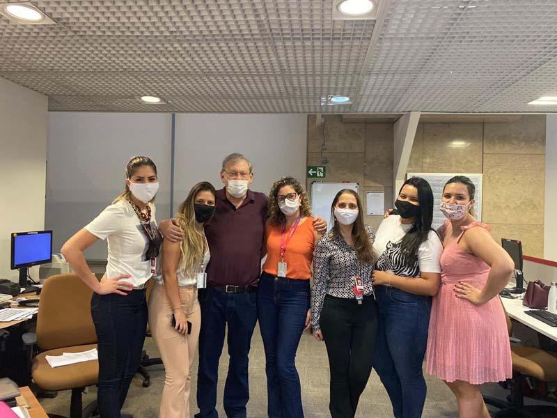 Milton Neves reuniu-se com funcionários da instituição em São Paulo. Foto: Divulgação