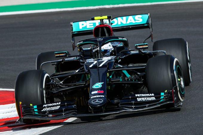 Finlandês liderou o TL1 para o GP de Portugal. Foto: Mercedes-AMG F1