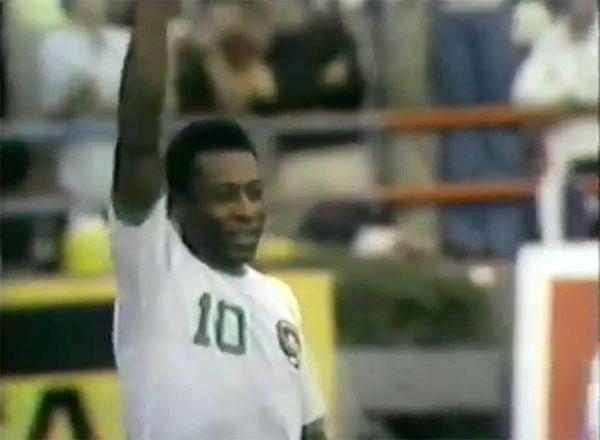 O Rei começou bem pela equipe norte-americana, em 1975. Foto: Reprodução