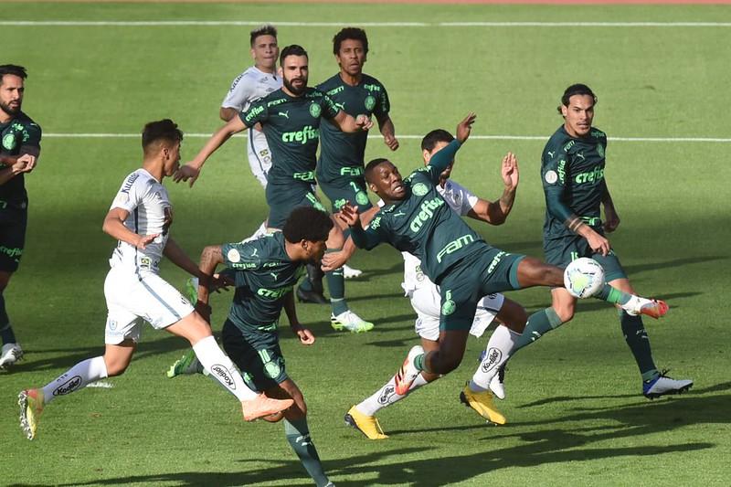 Santos e Palmeiras se enfrentariam apenas numa eventual final da Libertadores. Foto: Twitter/Conmebol