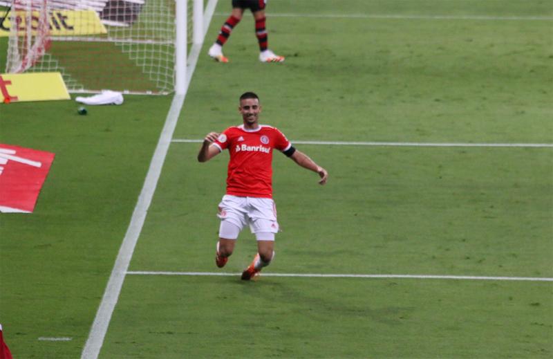 Thiago Galhardo marcou um dos gols do confronto. Foto: Divulgação/Inter