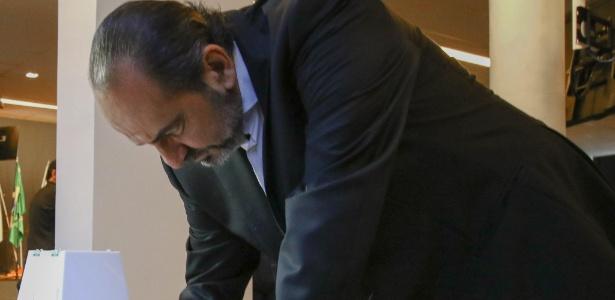 Alexandre Kalil, ex-presidente do Atlético-MG, durante votação do projeto para o estádio do Galo