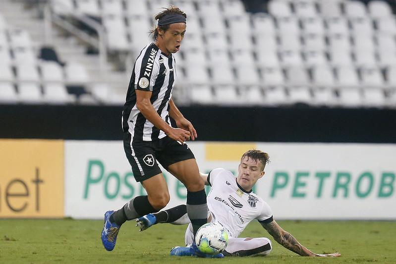 Fogão ficou duas vezes na frente no placar, acabou cedendo o empate ao Vozão. Foto: Vitor Silva/Botafogo