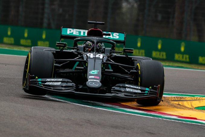 Britânico adotou estratégia perfeita em Imola. Foto: Mercedes-AMG F1