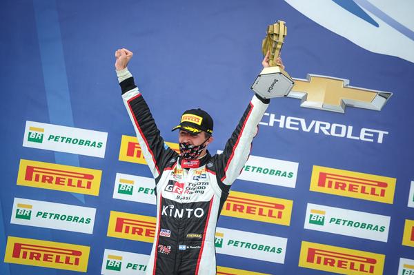 Piloto conseguiu seu melhor resultado pela categoria, na etapa do Velocitta. Foto: Bruno Terena/Divulgação