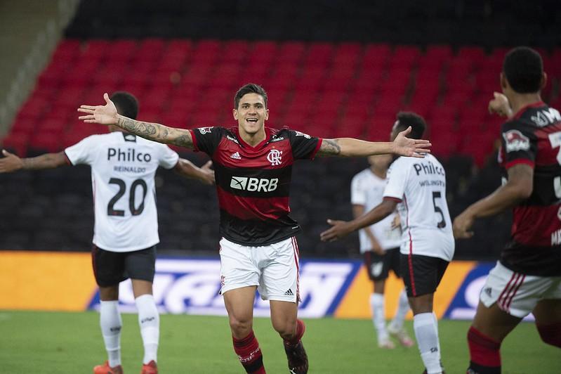 Destaque do Flamengo, Pedro foi chamado por Tite para o lugar de Neymar. Foto: Alexandre Vidal/Flamengo
