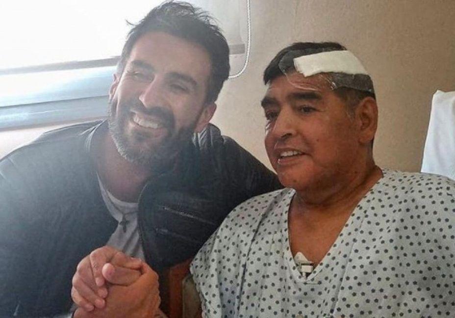 Maradona passou por cirurgia para drenar pequena hemorragia no cérebro. Foto: Reprodução