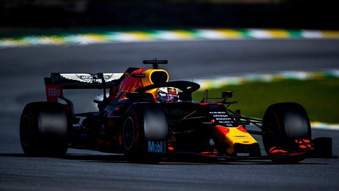 Holandês largou na pole e dominou a corrida em Interlagos. Foto: Red Bull Racing