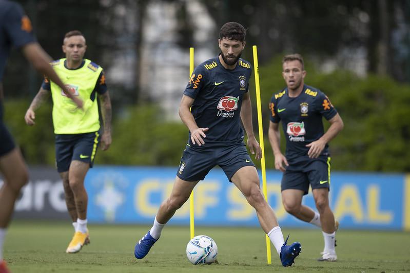 Felipe tem sido chamado por Tite para a seleção brasileira. Foto: Lucas Figueiredo/CBF