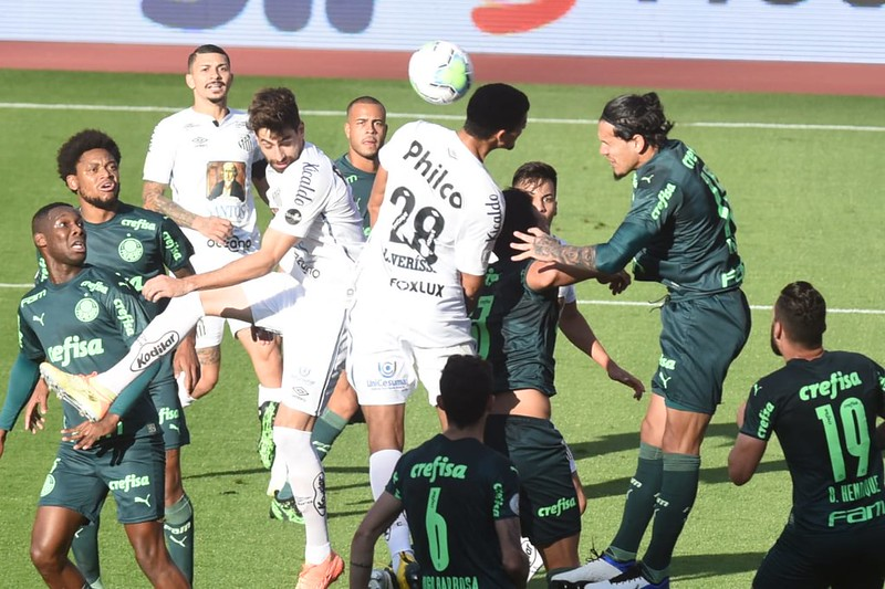 No primeiro turno, o Verdão bateu o Peixe por 2 a 1. Foto: Ivan Storti/Santos FC
