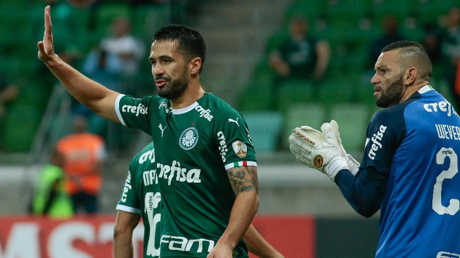 Luan, do Palmeiras, durante partida contra o Junior Barranquilla pela Libertadores 2019