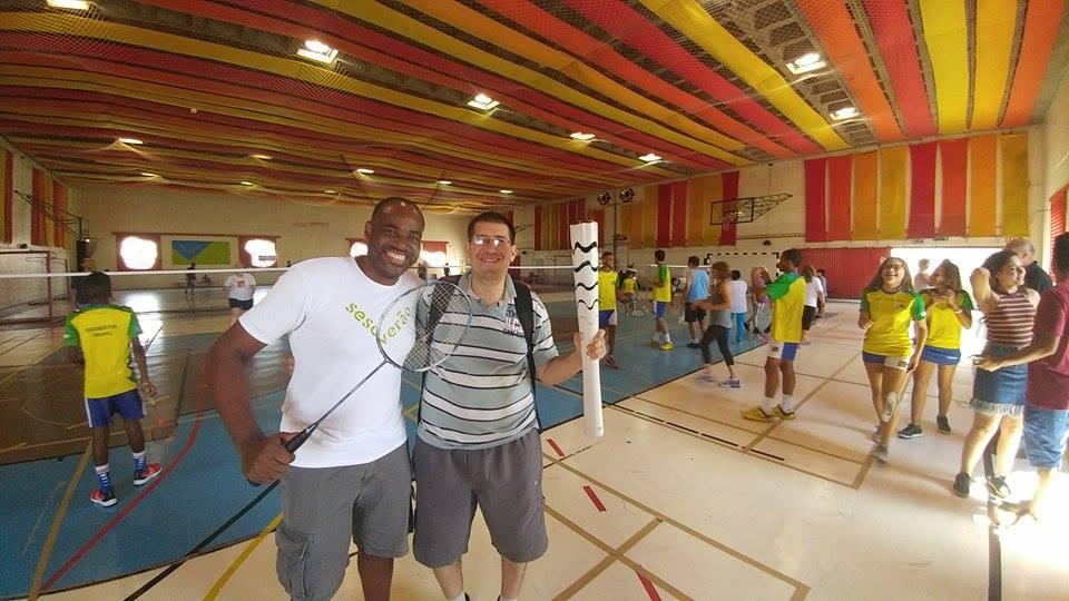 Entrevista do jornalista Maurício Sabará sobre badminton no Sesc Pompéia