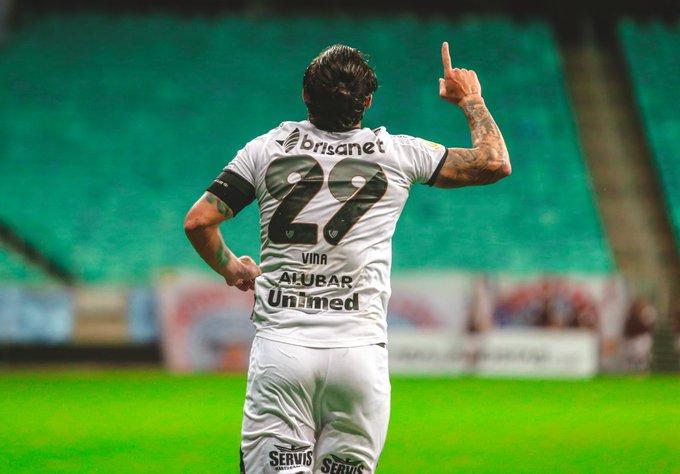 Vina marcou um dos gols do Vozão. Foto: Israel Simonton / Ceará SC