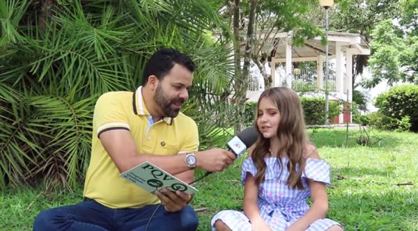 A pequena de oito anos falou ao site muzambinho.com.br. Foto: Reprodução