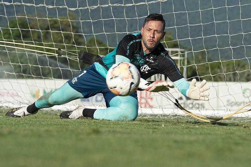 Goleiro flamenguista tem contrato até 31 de dezembro de 2020. Foto: Alexandre Vidal/Flamengo