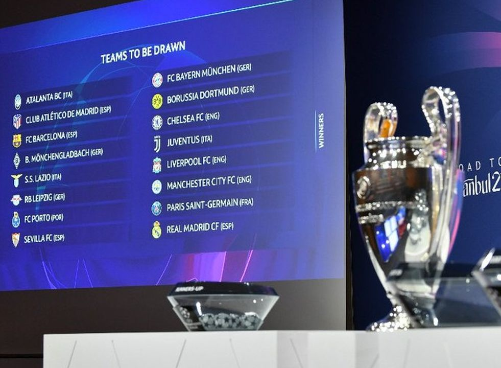 Oitavas de final da Liga dos Campeões serão disputadas entre fevereiro e março de 2021. Foto: Uefa/Divulgação