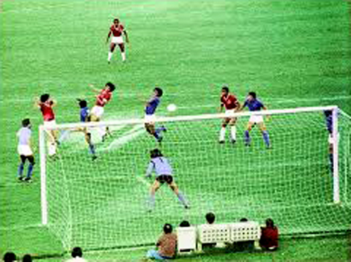 """Figueroa marcou o único tento da partida diante do Cruzeiro, o chamado """"Gol Iluminado"""""""