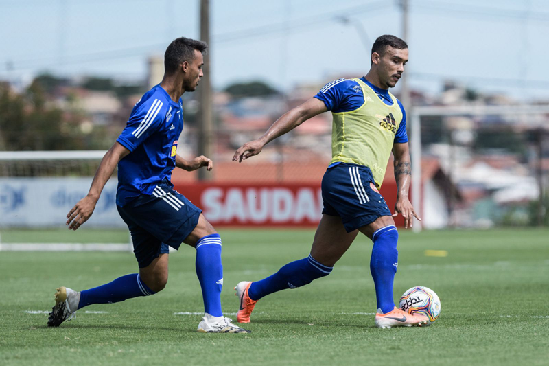 William Pottker voltou a treinar normalmente. Foto: Gustavo Aleixo/Cruzeiro
