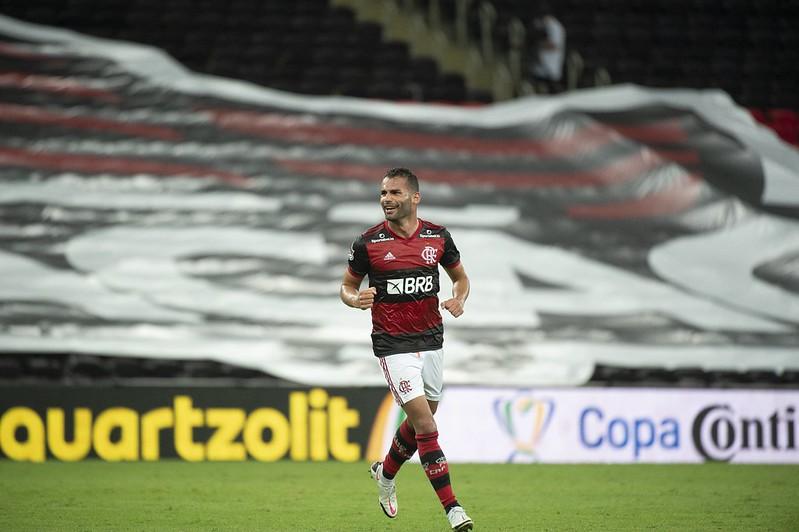 Thiago Maia tinha contrato com o Mengão até junho de 2021. Foto: Alexandre Vidal/Flamengo