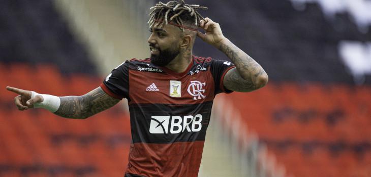 Gabigol estará no ataque rubro-negro neste domigo. Foto: Divulgação/Flamengo
