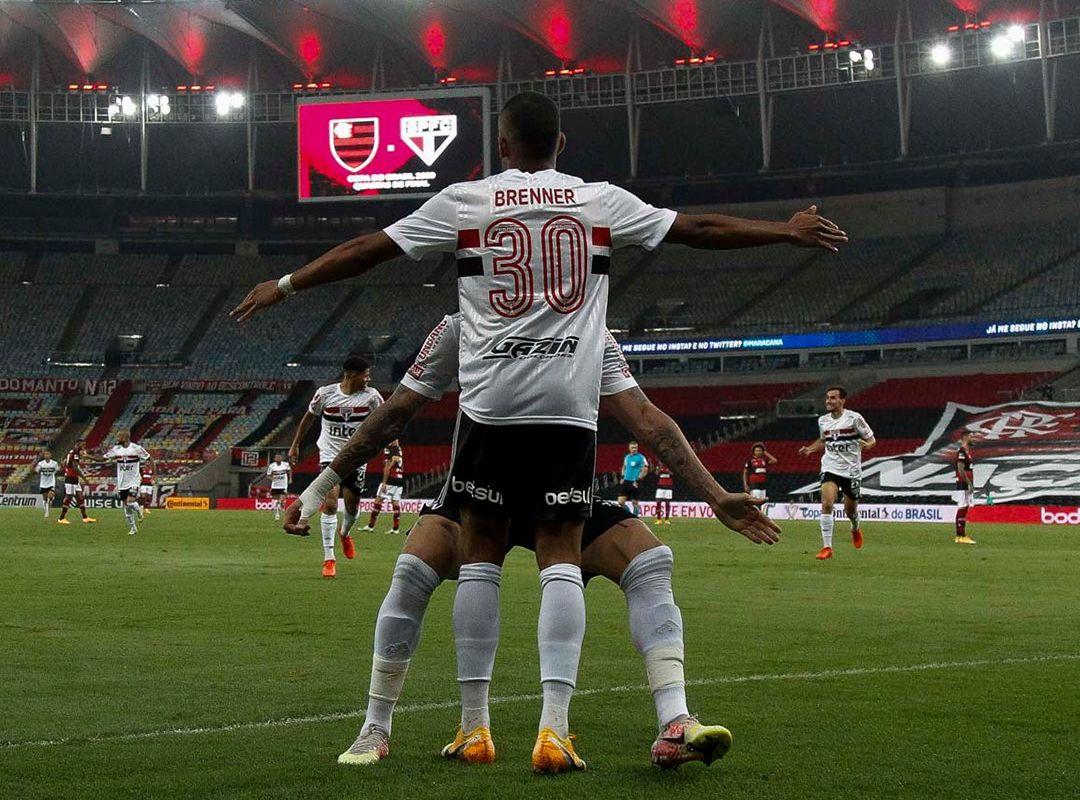 Brenner marcou os dois gols na vitória são-paulina no Maracanã. Foto: Miguel Schincariol/saopaulofc.net