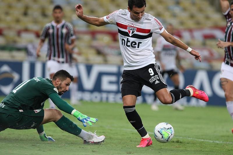 Pablo se lesionou em partida do Tricolor contra o Fluminense pelo Brasileiro. Foto: Rubens Chiri/saopaulofc.net