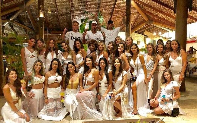 Na festa de Neymar, em plena pandemia, o celular é proibido e a máscara é opcional. Foto: Reprodução