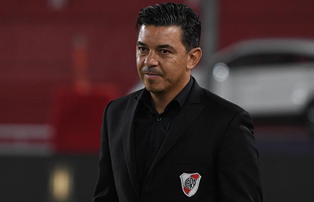 Treinador do River Plate busca motivar seu grupo. Foto: Divulgação/River Plate
